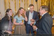 Richard Lugner 85er - Stadtpalais Liechtenstein - Sa 14.10.2017 - Andreas LUGNER mit Tochter Alina und Freundin Aline, Richard LUG48