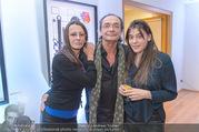 Brigitte Just Ausstellungseröffnung - Raiffeisenbank Stockerau - Di 24.10.2017 - Brigitte JUST, Christian KOLONOVITS, Tochter Lisa56