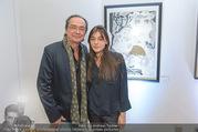 Brigitte Just Ausstellungseröffnung - Raiffeisenbank Stockerau - Di 24.10.2017 - Christian KOLONOVITS, Tochter Lisa78