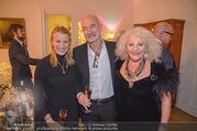 Marika Lichter X-Mas Cocktail - Privatwohnung Lichter - Di 12.12.2017 - Marika LICHTER, Doris und Gabor ROSE1