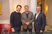 Fototermin Serafin Pape - Hotel Sacher - Mi 20.12.2017 - Johann P�RMAYR, Rene PAPE, Daniel SERAFIN1