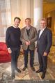 Fototermin Serafin Pape - Hotel Sacher - Mi 20.12.2017 - Johann P�RMAYR, Rene PAPE, Daniel SERAFIN2