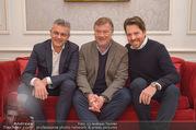 Fototermin Serafin Pape - Hotel Sacher - Mi 20.12.2017 - Johann P�RMAYR, Rene PAPE, Daniel SERAFIN6