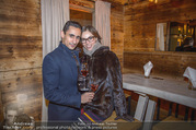 Moet & Chandon Chalet Winter Closing - Winter Chalet Palais Esterhazy - Mo 08.01.2018 - Maria YAKOVLEVA mit Freund Richard SZABO22