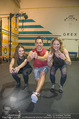 Promi Kniebeugen - Grex Gym - Di 16.01.2018 - Barbara KAUDELKA, Sigrid SP�RK, Tricky NICKI2