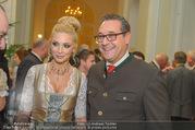 Jägerball - Hofburg - Mo 29.01.2018 - HC Heinz Christian STRACHE mit Ehefrau Philippa (BECK)31
