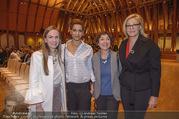 Swarovski Podiumsdiskussion - TU Wien Kuppelsaal - Mi 07.02.2018 - Maria GRO�BAUER, Rebecca HORNER, Helene VAN DAMM, Nadja SWAROVS30