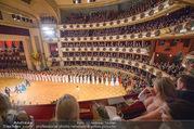 Opernball 2018 - Wiener Staatsoper - Do 08.02.2018 - Festsaal, Baller�ffnung, Blick aus einer Loge, �bersichtsfoto264