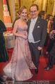 Opernball 2018 - Wiener Staatsoper - Do 08.02.2018 - Maria GRO�BAUER GROSSBAUER mit Ehemann Andreas313