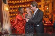 Opernball 2018 - Wiener Staatsoper - Do 08.02.2018 - Sebastian KURZ mit Freundin Susanne THIER, Waris DIRIE326