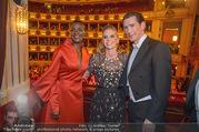 Opernball 2018 - Wiener Staatsoper - Do 08.02.2018 - Sebastian KURZ mit Freundin Susanne THIER, Waris DIRIE330