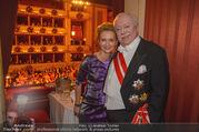 Opernball 2018 - Wiener Staatsoper - Do 08.02.2018 - Michael H�UPL mit Ehefrau Barbara (H�RNLEIN)336