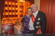 Opernball 2018 - Wiener Staatsoper - Do 08.02.2018 - Michael H�UPL mit Ehefrau Barbara (H�RNLEIN)337