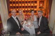 Opernball 2018 - Wiener Staatsoper - Do 08.02.2018 - Georg STUMPF, Patricia SCHALKO, Kathi STUMPF, Alex BEZA346
