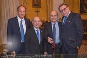 Orden für Ali Rahimi - Apostolische Nuntiatur - Di 13.03.2018 - Ernst MINAR, Ali RAHIMI mit Vater Abbas RAHIMI, Gerald GANZGER53