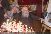 Hermann Nitsch Geburtstag - Marchfelderhof - Mi 14.03.2018 - Hermann NITSCH, Maria LAHR28