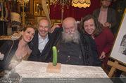 Hermann Nitsch Geburtstag - Marchfelderhof - Mi 14.03.2018 - Hermann NITSCH mit Ehefrau Rita, Elise und Erwin WURM58