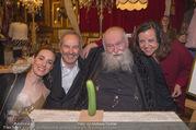 Hermann Nitsch Geburtstag - Marchfelderhof - Mi 14.03.2018 - Hermann NITSCH mit Ehefrau Rita, Elise und Erwin WURM60