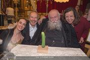 Hermann Nitsch Geburtstag - Marchfelderhof - Mi 14.03.2018 - Hermann NITSCH mit Ehefrau Rita, Elise und Erwin WURM61