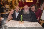 Hermann Nitsch Geburtstag - Marchfelderhof - Mi 14.03.2018 - Hermann NITSCH mit Ehefrau Rita, Elise und Erwin WURM62
