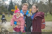 Lindt Goldhasensuche - Botanischer Garten Schönbrunn - So 25.03.2018 - Familie Andreas FERNER mit Viktoria und Kind Maria22