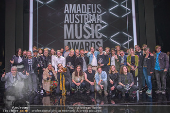 Amadeus Austria Music Awards 2018 - Volkstheater - Do 26.04.2018 - Gruppenfoto Sieger Preistr�ger229