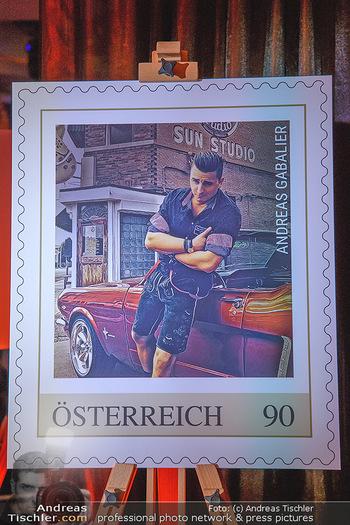 Andreas Gabalier Vergiss Mein nicht CD Präsentation - Palais Wertheim, Wien - Di 29.05.2018 - Briefmarke der �sterreichischen Post AG f�r Andreas GABALIER2