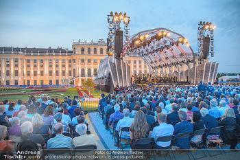 Sommernachtskonzert 2018 - Schloss Schönbrunn - Do 31.05.2018 - Zuschauer, Menschenmassen, Publikum, Gloriette, Schloss Schönbr44