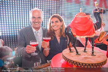 400 Jahre Schwarzes Kameel mit Campari - Zum schwarzen Kameel - Mi 06.06.2018 - Peter und Christina FRIESE mit Geburtstagstorte91