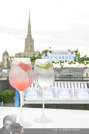 Belvedere Sky Garden - On Top Hypo NOE - Di 12.06.2018 - Drinks mit Stephansdom im Hintergrund20