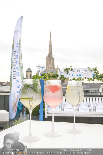 Belvedere Sky Garden - On Top Hypo NOE - Di 12.06.2018 - Drinks mit Stephansdom im Hintergrund21