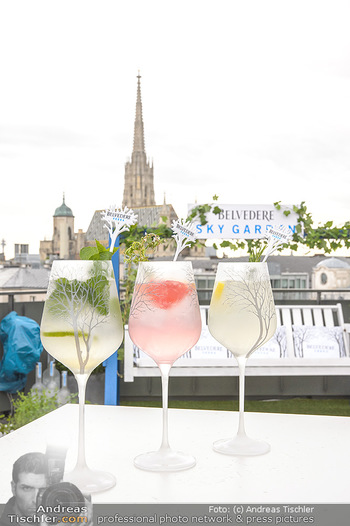 Belvedere Sky Garden - On Top Hypo NOE - Di 12.06.2018 - Drinks mit Stephansdom im Hintergrund22