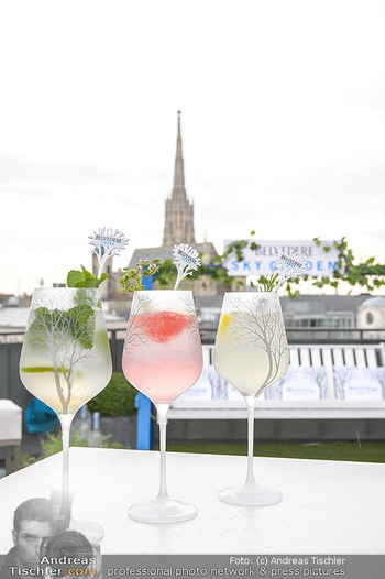 Belvedere Sky Garden - On Top Hypo NOE - Di 12.06.2018 - Drinks mit Stephansdom im Hintergrund25