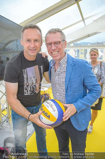 Promi Beachvolleyball - Strandbad Baden - Mi 13.06.2018 - Peter STÖGER, Toni PFEFFER4