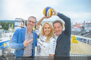 Promi Beachvolleyball - Strandbad Baden - Mi 13.06.2018 - Peter STÖGER, Ulrike KRIEGLER, Kurt FAIST5