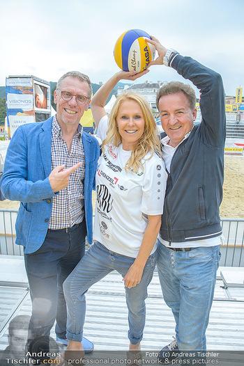 Promi Beachvolleyball - Strandbad Baden - Mi 13.06.2018 - Peter STÖGER, Ulrike KRIEGLER, Kurt FAIST6