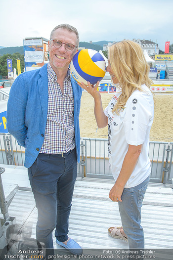 Promi Beachvolleyball - Strandbad Baden - Mi 13.06.2018 - Peter STÖGER, Ulrike KRIEGLER8