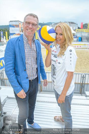 Promi Beachvolleyball - Strandbad Baden - Mi 13.06.2018 - Peter STÖGER, Ulrike KRIEGLER9