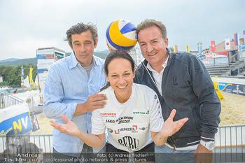 Promi Beachvolleyball - Strandbad Baden - Mi 13.06.2018 - Werner SCHREYER, Kurt FAIST, Vera RUSSWURM18