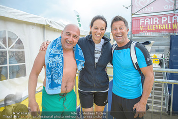 Promi Beachvolleyball - Strandbad Baden - Mi 13.06.2018 - Christoph FÄLBL, Vera RUSSWURM, Hans ENN28