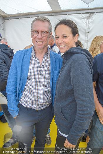 Promi Beachvolleyball - Strandbad Baden - Mi 13.06.2018 - Peter STÖGER, Vera RUSSWURM32