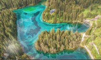 Österreich in Farben - Österreich - Mo 02.07.2018 - Grüner See von oben, Luftbild, Wasserqualität Österreich, Ber16