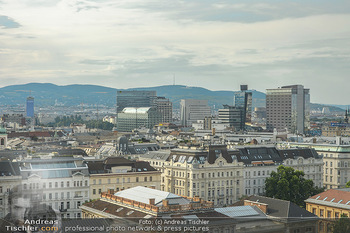 Urban Decay - Born to Run - Hilton Vienna Hotel - Do 05.07.2018 - Blick über WIEN, Panorama, 1. und 2. Bezirk, NEWS-Tower8