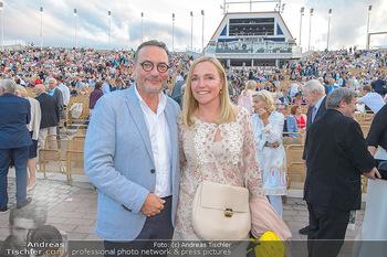 Premiere Gräfin Mariza - Seefestspiele Mörbisch - Do 12.07.2018 - Heinz STIASTNY mit Ehefrau Michaela59