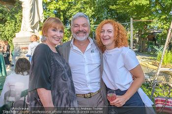 Chris Lohner 75er - Concordia Schlössl - Sa 14.07.2018 - Chris LOHNER, Werner BRIX mit Freundin Magdalena1