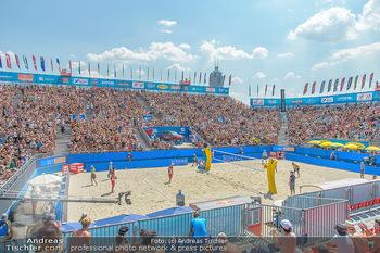 Beachvolleyball - Donauinsel Wien - Sa 04.08.2018 - Stadion, Zuschauer, Übersichtsfoto, Athmosphäre, Center Court,1