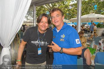 Beachvolleyball - Donauinsel Wien - Sa 04.08.2018 - Hannes JAGERHOFER mit Bruder Christian4