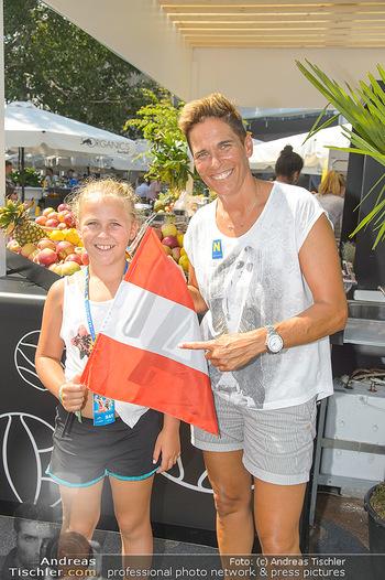 Beachvolleyball - Donauinsel Wien - Sa 04.08.2018 - Michaela DORFMEISTER mit Tochter Lea21