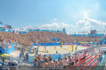 Beachvolleyball - Donauinsel Wien - Sa 04.08.2018 - Stadion, Zuschauer, Übersichtsfoto, Athmosphäre, Center Court,23