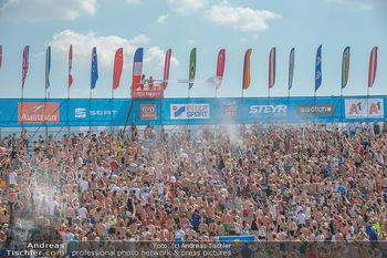 Beachvolleyball - Donauinsel Wien - Sa 04.08.2018 - Stadion, Zuschauer, Übersichtsfoto, Athmosphäre, Center Court,25
